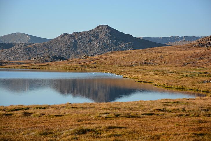 Lago, paisagem, natureza, água, céu, Calma, natural