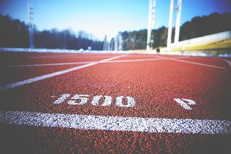 asfalt, Atletisme, entelar, close-up, buit, exercici, ràpid