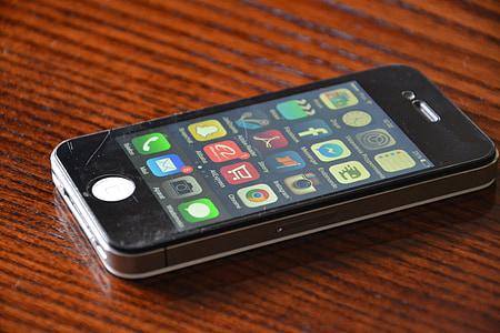 iPhone, iPhone 4, телефон, чорний, клітинку, стільниковий телефон, смартфон