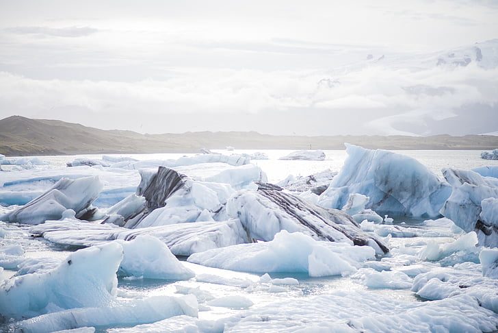 ice, floe, cold, nature, blue, white, arctic