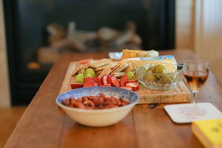set de table, alimentaire, Parti, Tableau, ensemble, repas, réglage