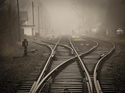 vias, tren, ferrocarril de, a través de, trenes, Ruta de acceso, vías del tren