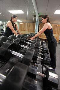 веса, подъем, мощность, девушки, тренажерный зал, Фитнес, молодой