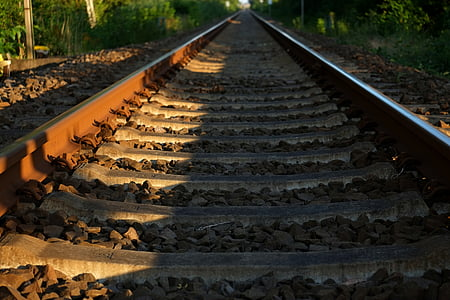 track, railway, seemed, railroad tracks, railway rails, train, infinity