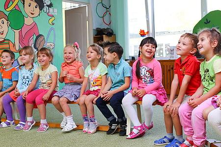 børnehave, klovn, haven, animator, ferie, børn, barn