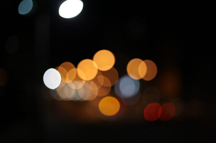 bokeh, laine légère mens, lumière, vue de nuit, éclairage, atmosphère, dans la soirée