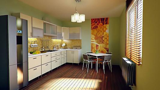 kitchen, apartment, home, modern, luxury, indoors, home Interior