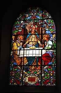 finestre di vetro macchiate, Chiesa, Cappella, Francia, vetro macchiato, Cattolica, finestra