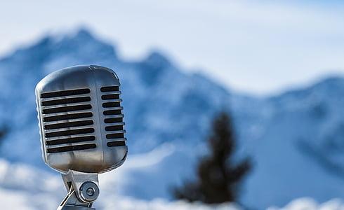 ไมโครโฟน, ภูเขา, หิมะ
