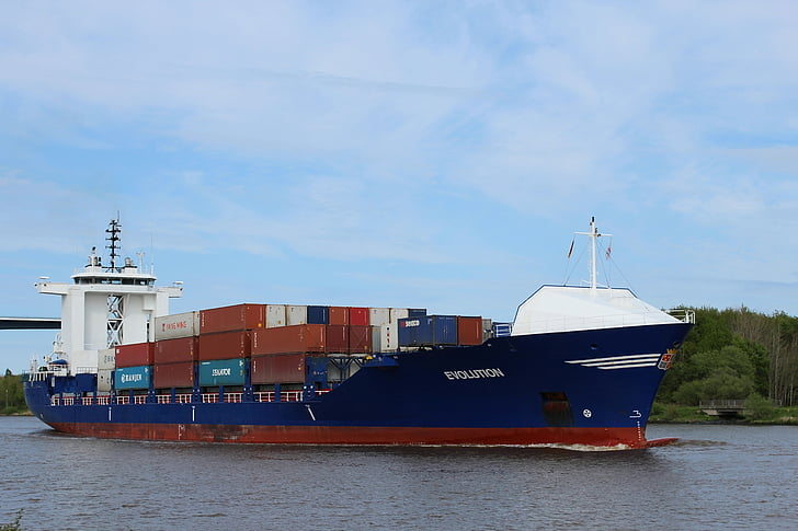 container ship, ship, freighter, container, nok
