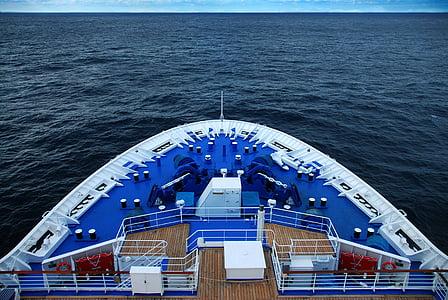 Voyage, kryssning, fartyg, båge, lyx, resor, havet