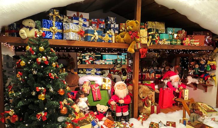 Vánoční, dárky, Santa claus, Vyrobeno, zabaleno