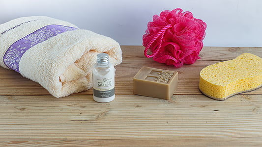 higiene, Spa, sabó, natural, tovallola, Esponja, rentat