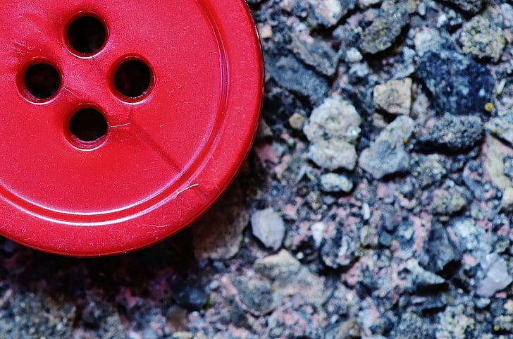 buttons, 4 holes, red, close, button, color