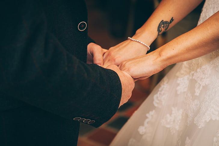 tancar, fotos, parella, celebració, mà, persones, mans de celebració