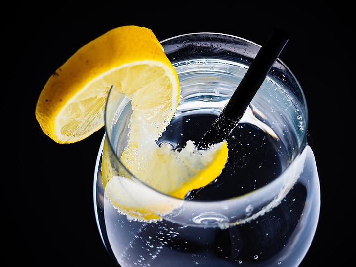 vidre, l'aigua, reflexió, bombolles d'aigua, beguda, blau, líquid