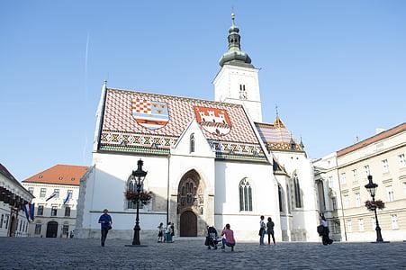 székesegyház, Zágráb, Horvátország, templom, város, Európa, építészet