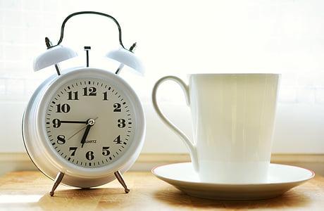 นาฬิกาปลุก, เวลาของ, สวัสดี, ยืนขึ้น, รับประทานอาหารเช้า, แสดงเวลา, กระตุ้น