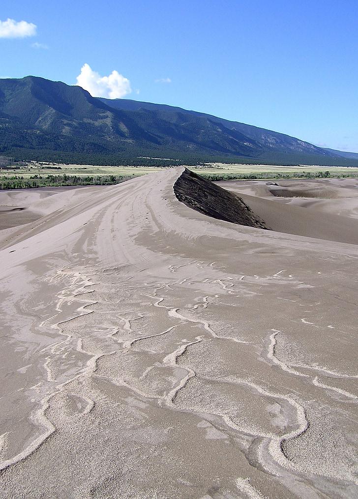 dunes de sorra, Parc, Nacional, preservar, paisatge, natura, ones