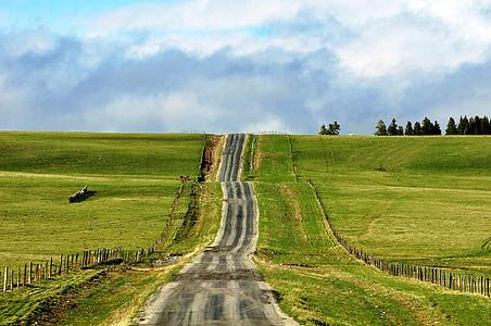 llarg camí, natura, carretera, escèniques