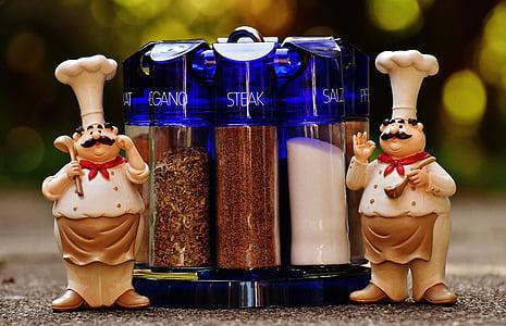 xefs, espècies, preparació, menjar, cuinar, ingredient, cuina