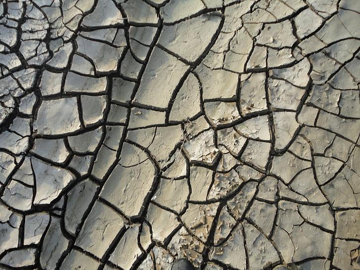 pôdy, zem, trhliny, Príroda, vlhkosť, suché, káva