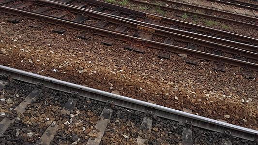 järnväg, spår, tåg, järnvägsspåren, transport, sliprar, Rails