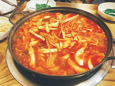kana, kana bokeumtang, Vürtsikas, maitsev, paprika pulber, Cooking, maitsvat toitu