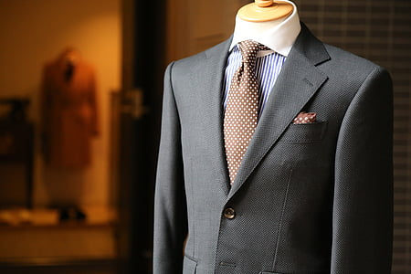 fashion, suit, tailor, clothes, well-dressed, mannequin, retail