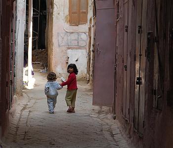 morocco, children, play, girl, girls, africa, city