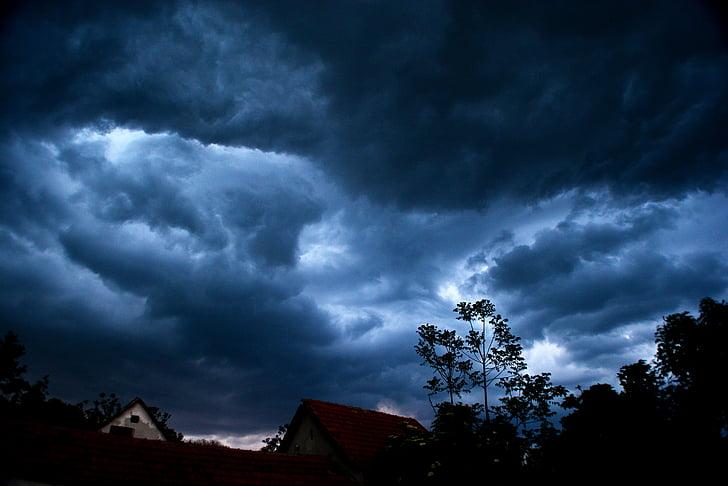 พายุ, ระบบคลาวด์, ฝน