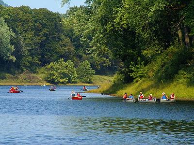 canoë-kayak, rivière, Recreation, à l'extérieur, amusement, aventure, sport