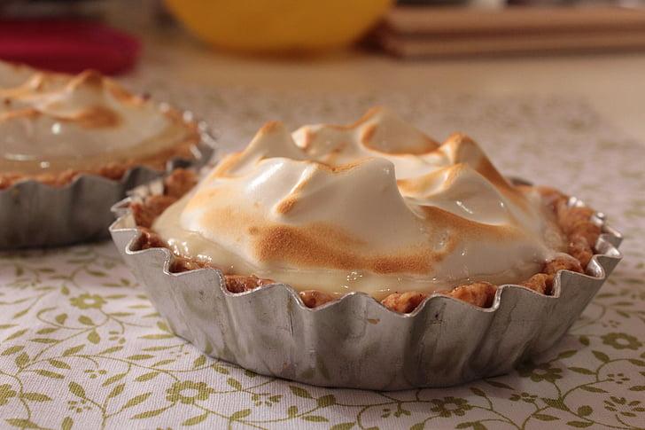 Tartelette au, tarte, tarte à la lime Key, meringue, tarte au citron, alimentaire, nourriture et boisson
