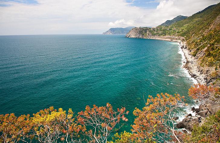 la Ligúria, Costa, panoràmica, italià, l'aigua, natura, Costa