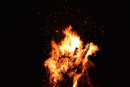 foc, espurnes, flama, fons de foc, calor, calenta, cremar
