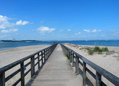веб, мост, пляж, Балтийское море, мне?, Бордуолк, воды