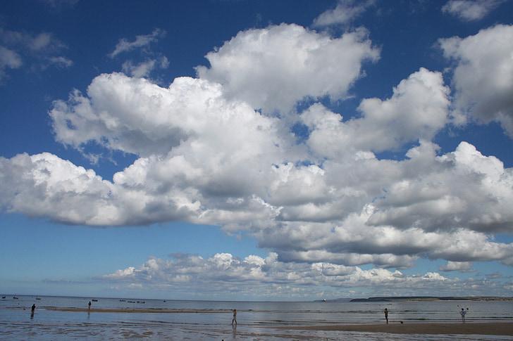 đám mây, màu xanh, bầu trời, Thiên nhiên, mây - sky, tôi à?, Bãi biển