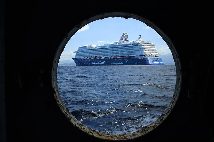 mitt skepp, kryssning, hyttventil, kryssningsfartyg