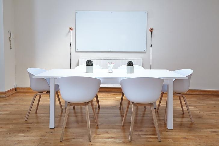 valkoinen, puinen, taulukko, tuolit, Hyväksytyn sisustus, suunnittelu, taulukot