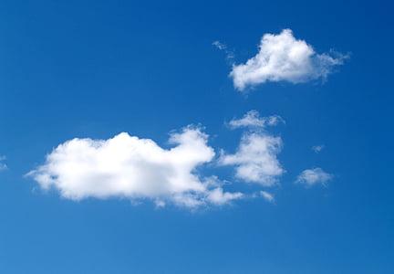 Wolken, Himmel, Blau, Wetter, Hintergrund, abstrakt, Himmel