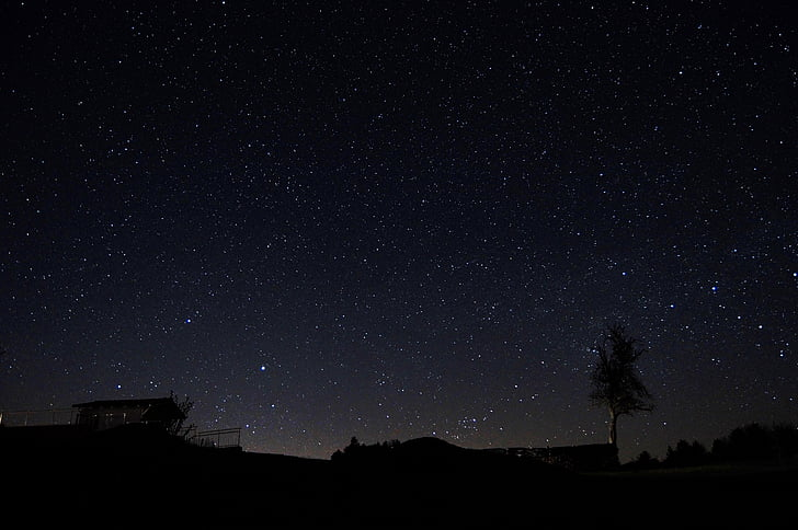 night sky, starry sky, star, sky, night, nature, dark