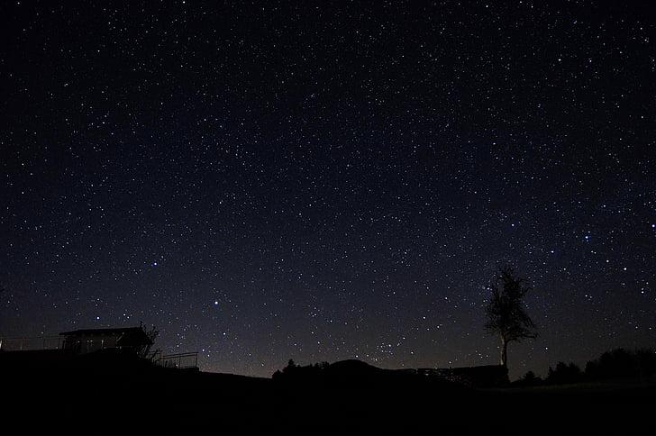 Öine taevas, Tähine taevas, Star, taevas, öö, loodus, tume