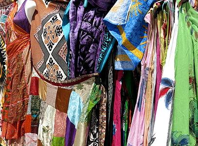 uteráky, farebné, vzor, Portugalsko, šaty, oblečenie, móda