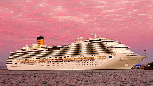 havet, krydstogt, rejse, søfart, skibet rejser, humør, Sky