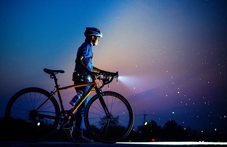 sykkel, hjem, lyset, Light vei, reise, grønn, natur