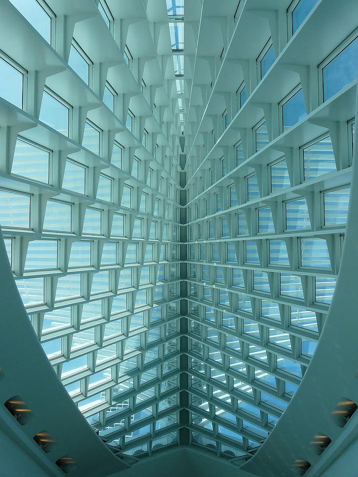 Milwaukee kunstimuuseum, kaunite kunstide muuseum, Milwaukee, Wisconsin, arhitektuur, hoone, futuristliku