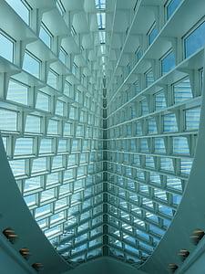 Milwaukee art museum, Muzeum výtvarných umění, Milwaukee, Wisconsin, Architektura, budova, futuristické
