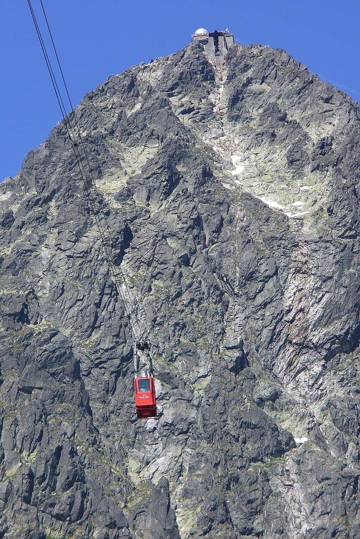 Lomnici-csúcs, Szlovákia, Tatry, Hill, a lift