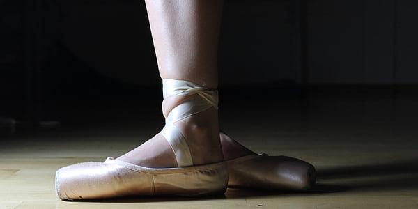 ballet, ballet shoes, ballerina, dance, performance, foot, grace