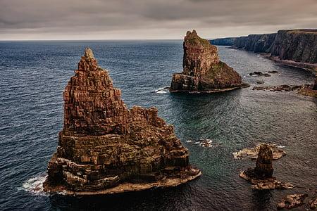 Roca, piles de duncansby, Escòcia, nord d'Escòcia, John o ' Groats, Costa, piques
